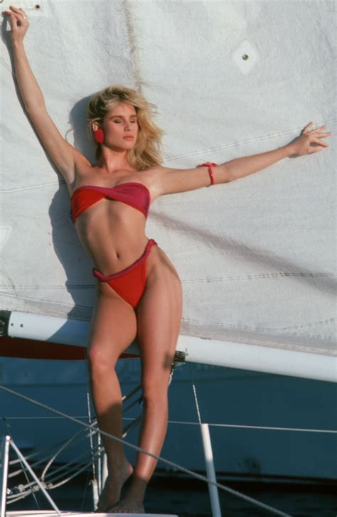Celebrity Naked Pictures Nicollette Sheridan Hot Bikini Harry Langdon Photohoot