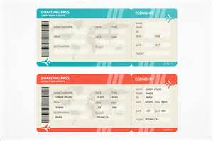 Airline Tickets Boarding Pass Templates