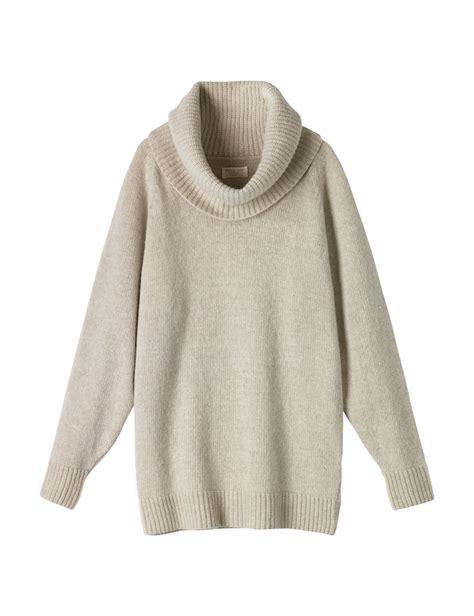 white cowl neck sweater toast martha cowl neck sweater in beige winter white lyst