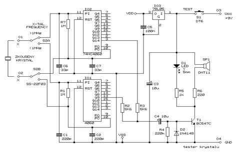 How Build Crystal Tester Circuit Diagram