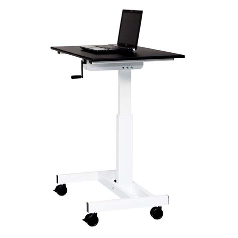 luxor stand up desk luxor adjustable height stand up desk black and white