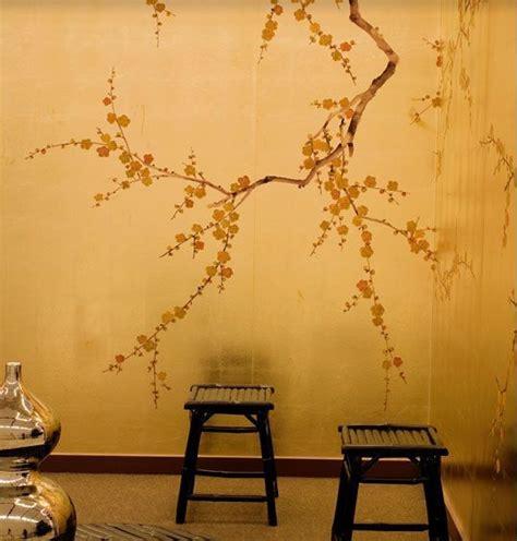 gold cherry blossom wallpaper bedroom google search