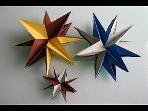 3d Stern Basteln 5 Zacken : origami 3d stern star youtube ~ Lizthompson.info Haus und Dekorationen