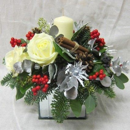 christmas flowers cube arrangementessex florist