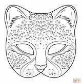 Mask Hippo Printable Karneval Pinte Cheetah Coloring Super sketch template