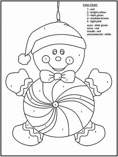 Coloring Christmas Number Numbers Pages Printable Printables
