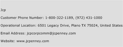 jcp phone number jcp customer service number toll free phone number of jcp