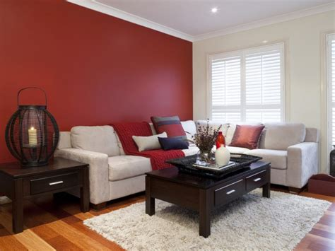Red Feature Wall  Inspirations Paint