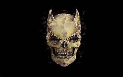 Skull Batman Background Artwork Brown Wallpapers Dark