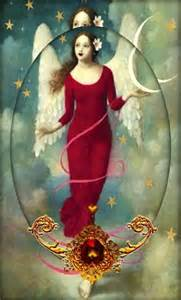 Crescent Moon with Angel