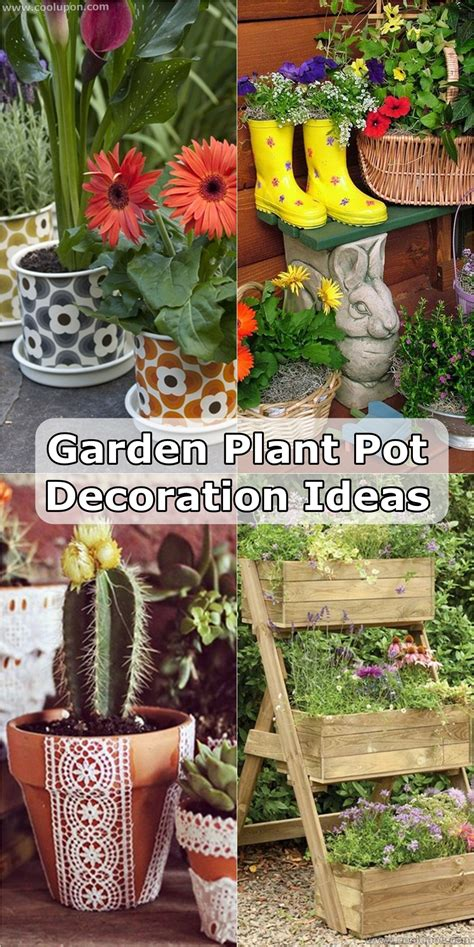 Garden Decoration Pots Ideas by 25 Catchy Cool Garden Plant Pot Decoration Ideas Coolupon