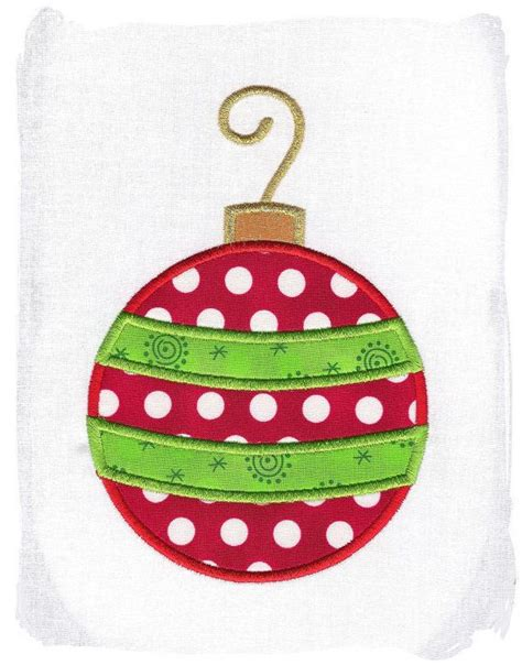 christmas ornament machine embroidery applique design