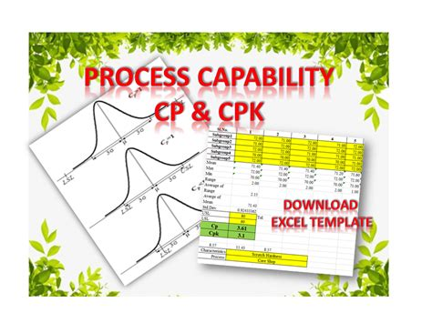 process capability analysis  cp cpk excel