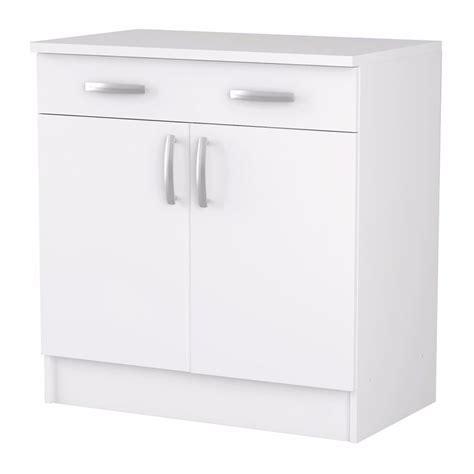 meuble de cuisine blanc bas 2 portes et 1 tiroir dya shopping fr