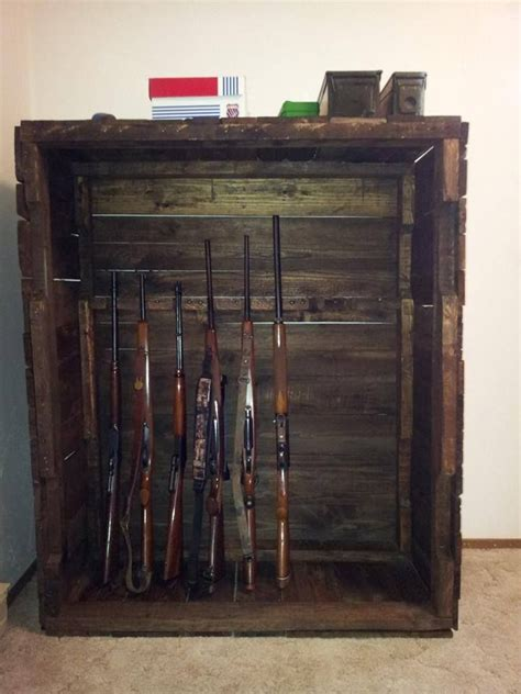 pallet wood gun cabinet plans gun cabinet wood pallet interesting furniture pinterest