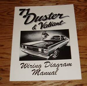 1971 Plymouth Duster  U0026 Valiant Wiring Diagram Manual 71