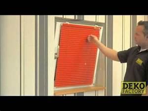 Plissee Für Feststehende Fenster Ohne Bohren : jalousie mit klemmhaltern leichte montage ohne das fenster anzubohren youtube ~ Watch28wear.com Haus und Dekorationen