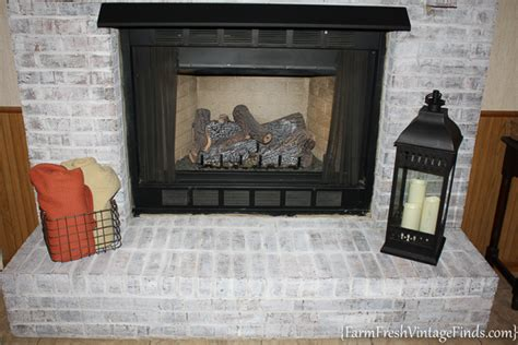 How To Use Fireplace - painting brick with debi s diy chalk type paint farm