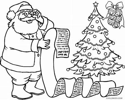 Santa Claus Coloring Pages Printable Town Coming