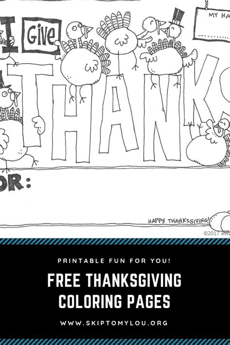 thanksgiving coloring pages skip   lou