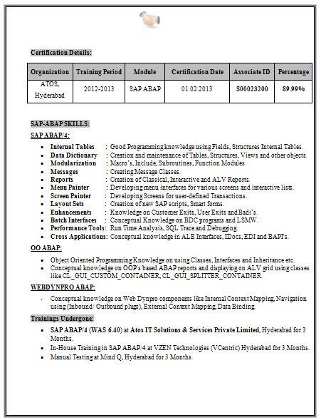 Exles Of Cv For Freshers by B Tech Eee Fresher Resume Sle 2 Career Resume