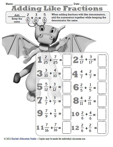 category fractions kaylee s education studio