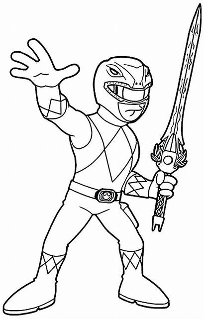 Power Ranger Coloring Pages Printable Rangers Colouring