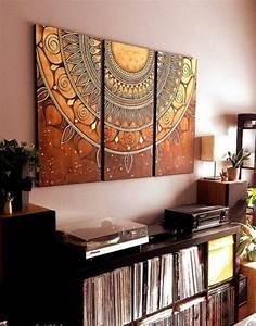 Mosaiksteine Auf Holz Kleben : mandala holz ausmalen leinwand bunt diy kreativ pinterest mandalas ~ Markanthonyermac.com Haus und Dekorationen