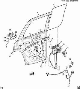 Chevy Blazer Door Parts Diagram