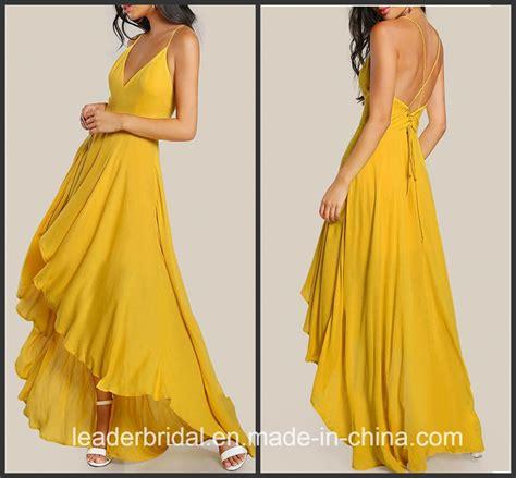 china yellow chiffon pageant dresses   bridesmaid