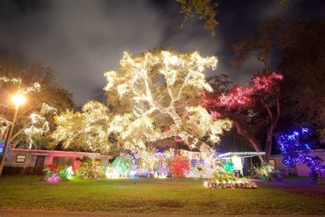 holiday light displays in miami miami on the cheap