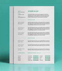 10 best free resume cv templates in ai indesign psd With color resume templates free download