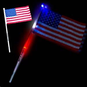 light up american flag led