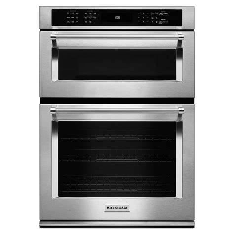 combo microwave and oven kitchenaid koce500ess 30 in self cleaning microwave
