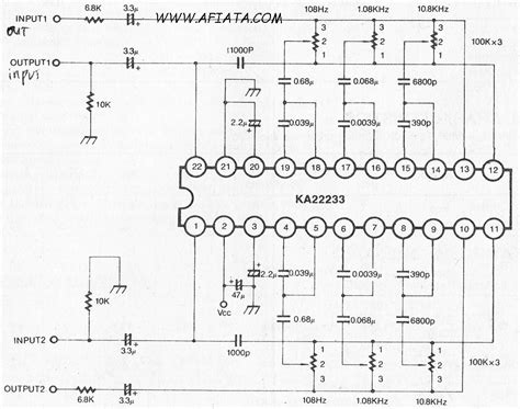 3 band dual graphic equalizer lifier circuit electronic circuit diagram and layout