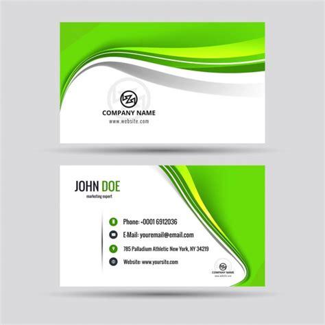 brillant carte de visite vert t 233 l 233 charger des vecteurs gratuitement