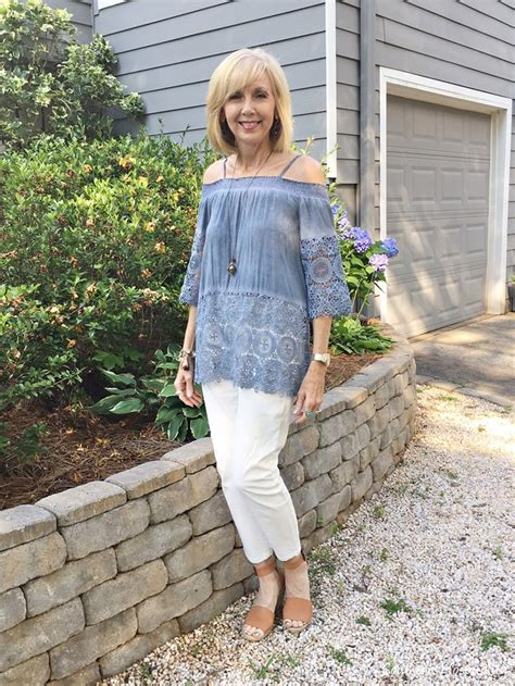 Fashion Over 50 Off The Shoulder Top  Southern Hospitality