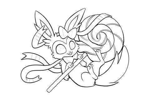 Pokemon Sylveon Coloring Pages