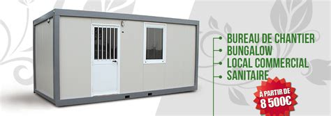 bureau de chantier occasion construction bungalow guadeloupe container modulable modul