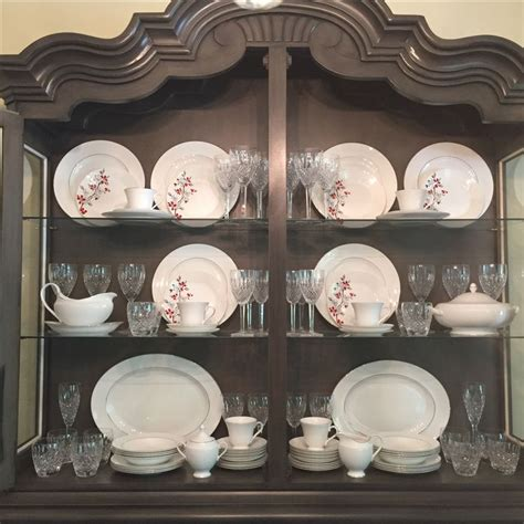how to arrange a china cabinet 17 best ideas about china cabinet display on