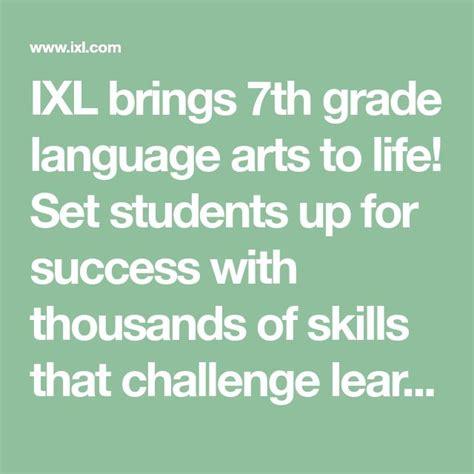 ixl brings  grade language arts  life set students