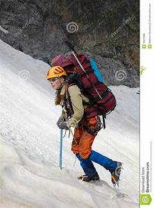 Mountaineer Girl In A Mountains Royalty Free Stock Photo ...