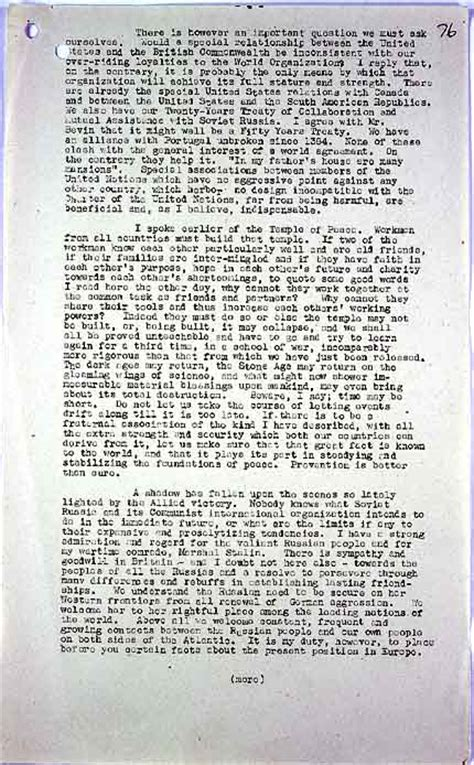 Churchills Iron Curtain Speech Text by The National Archives Learning Curve Cold War