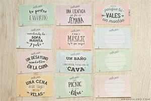 Imprimibles Para San Valentín: Vales Regalo | Anna Valero