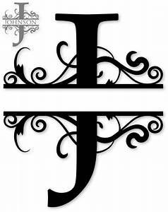 quotjquot split monogram flockfolie letters pinterest With photo monogram letter