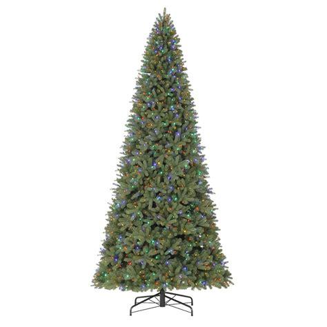11ft pre lit artificial christmas shop living 12 ft pre lit douglas fir artificial tree with color changing led