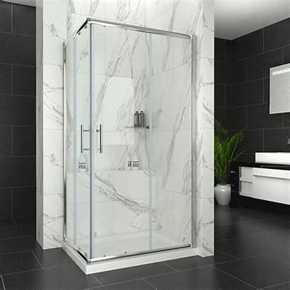 Shower Door Glass Corner Entry Sliding Safety