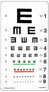 Distance Acuity Charts Tumbling E 20ft Test Chart
