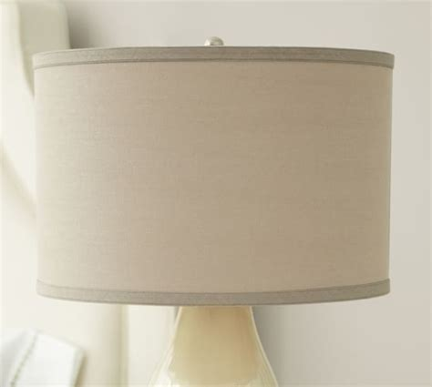 linen drum l shade straight sided linen drum l shade pottery barn