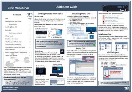 Delta Quick Start Guide (pdf